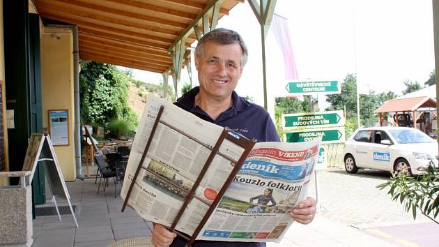 Pavel Vajčner, ambasador Znojemského deníku