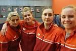 Hráčky Moravského Krumlova podlehly o posledním dubnovém pátku týmu SK Dobré v prvním kole čtvrtfinále play-off 2:5.