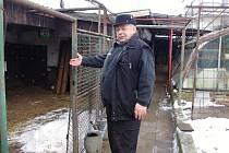 Drobný chovatel Jan Saleta z Moravského Krumlova.