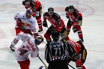 V nedělním zápase přivítalo Znojmo na domácím ledě Salzburg.