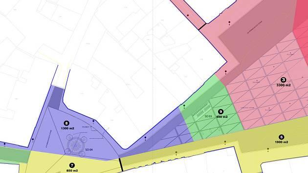 Planované etapy rekonstrukce horní části centra Znojma