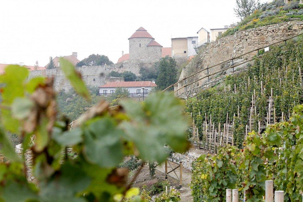 Terasy Rajské vinice ve Znojmě zpevní beton