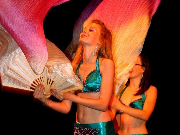 Na desátém ročníku přehlídky orientálních tanců se na pódiu znojemského divadla vystřídalo v sobotu více než sto břišních tanečnic všech věkových kategorií.