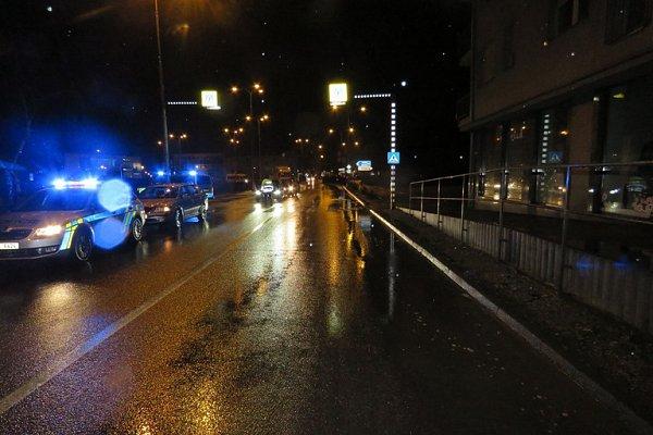 Nehoda ve Znojmě. Auto srazilo chodce.