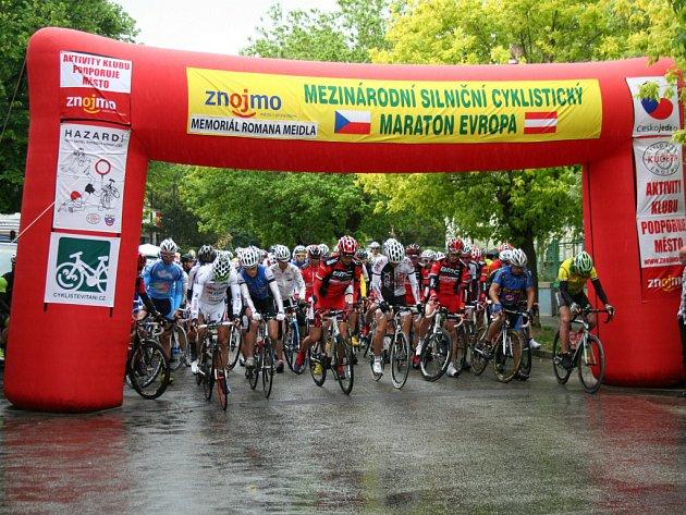 Osmý ročník silničního maratonu Evropa vyhrál Zdeněk Mlynář z Focus cycling team Znojmo.