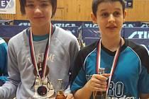 Hráč MK Řeznovice František Dohnal (vlevo) bodoval na turnajích ve Valticích a Hluku.