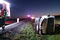 Následky nehody u I/53 nedaleko Trnového pole.