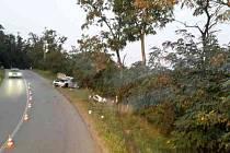 Při dopravní nehodě u Moravského Krumlova se v sobotu brzy ráno zranili čtyři lidé.