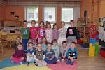 Děti ze třídy Žabiček v MŠ Pražská ve Znojmě.