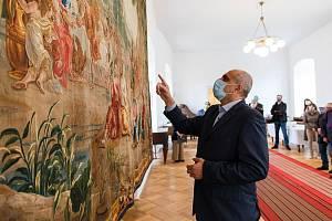 Na snímku kastelán zámku v Jevišovicích Jiří Černý.