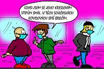 Pandemie inspirovala Bořivoje Švédu k další sérii kreslených vtipů.