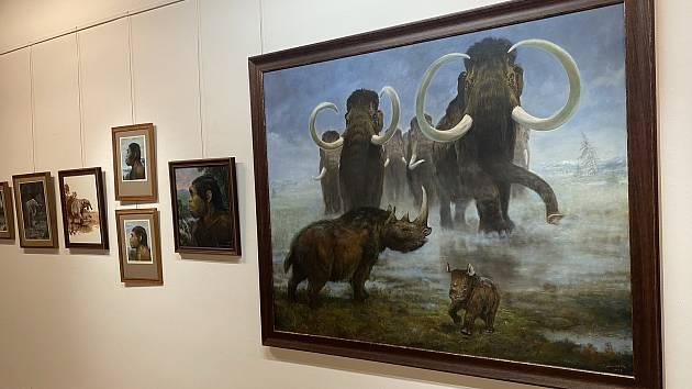 Cesty do pravěku aneb ve stopách Zdeňka Buriana je název výstavy s originálními díly Zdeňka Buriana ve Znojmě.