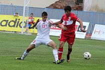 Městský stadion ve Znojmě hostil v úterý mezistátní utkání reprezentace do sedmnácti let mezi Maďarskem a Tureckem.