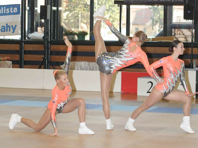 Ve znojemské sportovní hale byl v neděli k vidění špičkový aerobic. A to už jak v podání těch nejmenších, juniorů, juniorek, tak i seniorské kategorie.