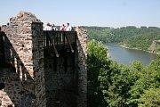 Zřícenina hradu Cornštejn.