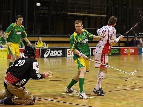 Znojemští florbalisté ve čtvrtfinále podlehli 1:3 na zápasy Paskovu.
