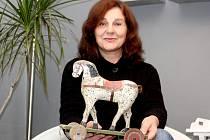 Marie Maderová vystavuje v Bučovicích.