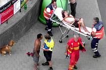 Znojemský strážník pomohl ženě po záchvatu.