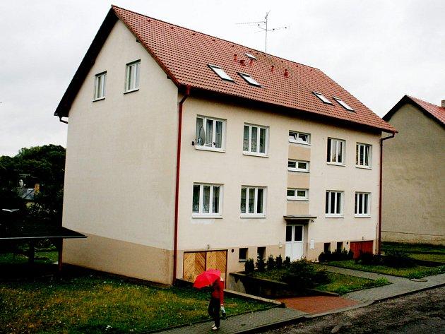 Dům č. 152 v Tavíkovicích, ve kterém se střílelo.