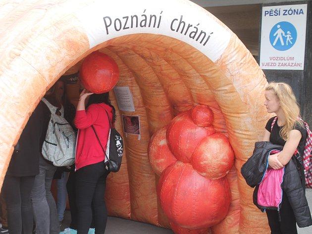 Preventivní akce Střevo Tour ve Znojmě.