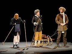 Repríza hry Dobytí severního pólu v podání herců Divadelního studia Martiny Výhodové pobavila znojemské divadlo.