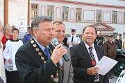 Slavnostní projev měl i starosta Vranova nad Dyjí Lubomír Vedra.