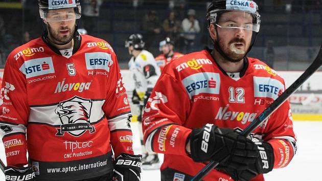 Hokejisté Znojma přivítali doma ve třetím kole nadstavby mezinárodní soutěže EBEL rakouský Dornbirn.