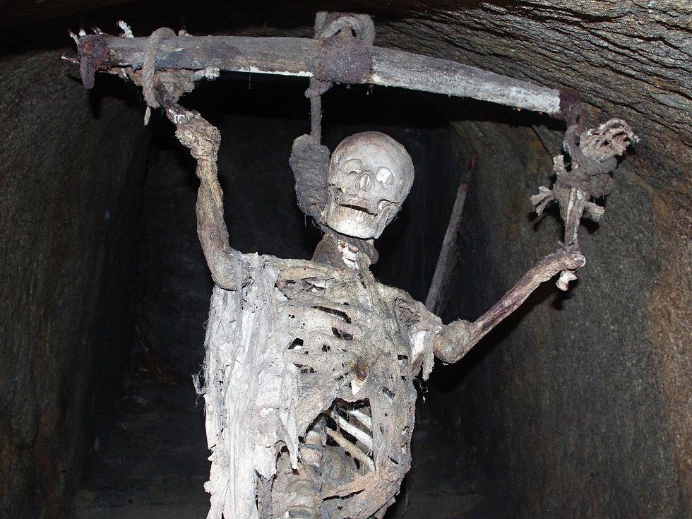 Expozice ve znojemském podzemí.