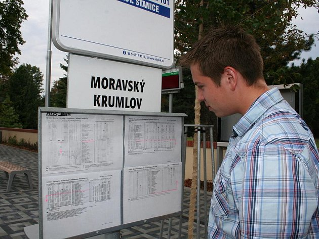 Miroslavské autobusové nádraží.