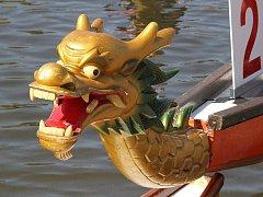Čtvrtý ročník festivalu dračích lodí ve Znojmě.