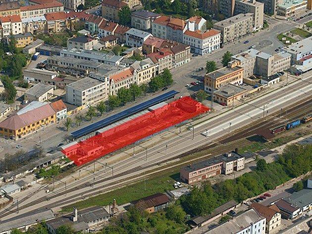 Místo plánovaného autobusového terminálu.