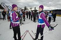 Znojemská rodačka Veronika Chmelířová Procházková (vlevo)se zůčastnila Jizerské padesátky.