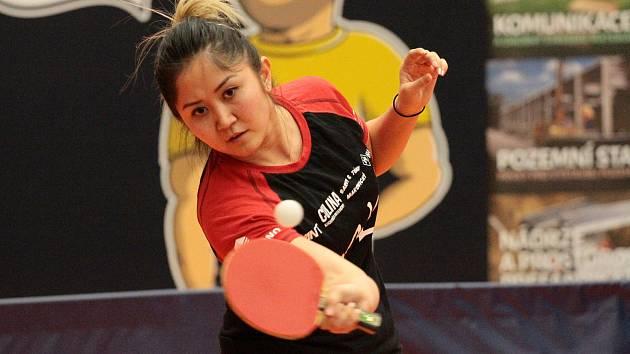 Stolní tenistka Moravského Krumlova Olga Kim.