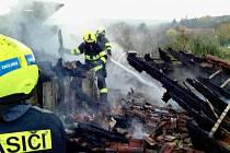V ulici Cínová hora ve Znojmě ve čtvrtek odpoledne hořelo.