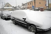 Sníh na Znojemsku.