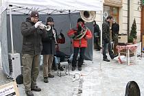 Kouda ´s Quartet v čele s trumpetistou Ladislavem Kouckým (vlevo).