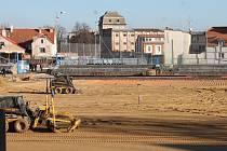 Opravy znojemského fotbalového stadionu.