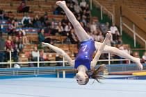 Kristýna Procházková ze znojemské sportovní gymnastiky.