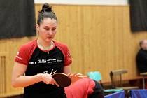 Stolní tenistka Moravského Krumlova Ekaterina Chernyavskaya.