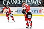 Znojemští hokejisté (červení) bodovali v rámci 4. kola nové sezony EBEL. V neděli doma porazili tým Villachu 3:1.