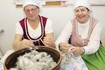 Klub seniorů Podyjí Hodonice připravil pro děti z místní mateřské a základní školy Draní peří pro děti.