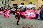 Znojemské historické vinobraní. Diváky přitahovala mimo jiné tradiční historický průvod .