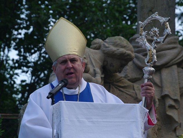 Slavností poutní bohoslužbu navečer sloužil novoříšský opat Marian Rudolf Kosík.