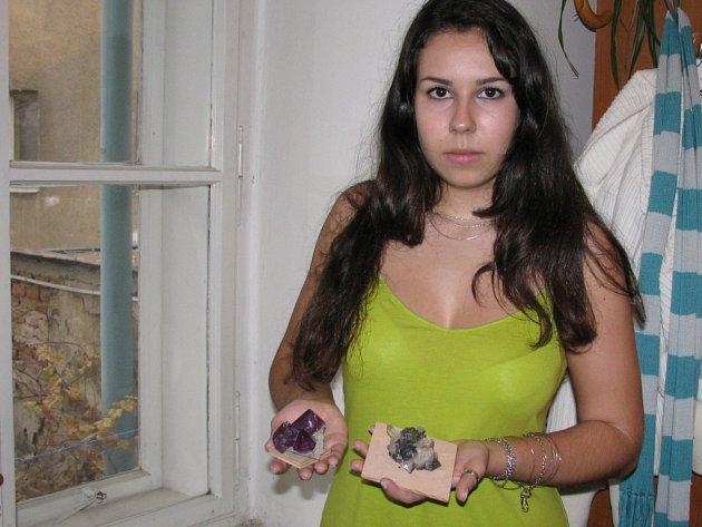 Veronika Zábrahová a její sbírka kamenů