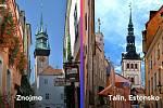 Srovnání centra Znojma a estonského Tallinu.
