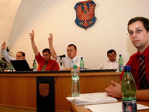 Zasedání znojemských zastupitelů.