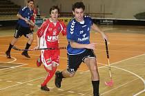 Sobotní florbalový duel TJ VHS Znojmo s brněnskými SC Hattrick skončil pro hostující Znojmo vítězně.