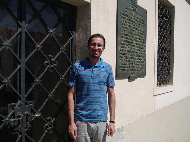 Ředitel Státního okresního archivu Znojmo David Nehyba.
