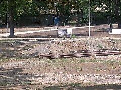 Kašna již na nějaký čas opustila Dolní park.
