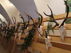 V Louckém kláštěře jsou k vidění zajímavé chovatelské trofeje.